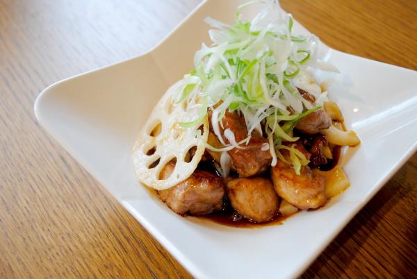 レンコン酢豚.JPG